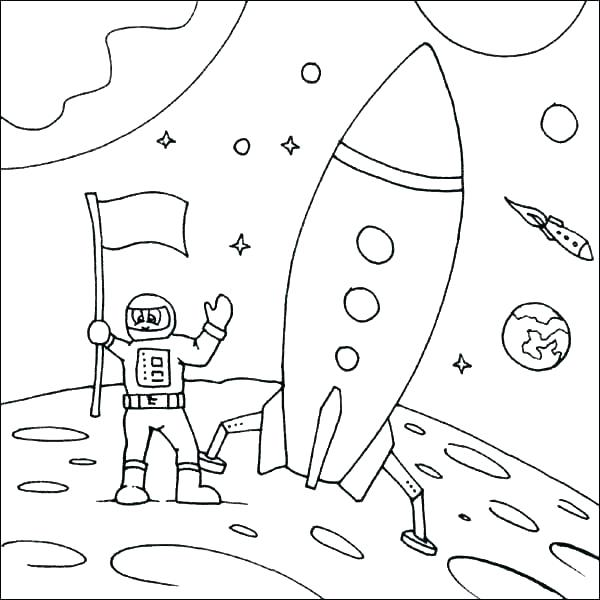 600x600 Spaceship Coloring Pages Printable Kids Coloring
