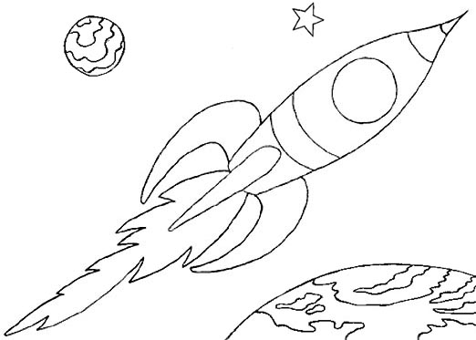 522x373 Wayne Schmidt's Free Space Ship Coloring Page