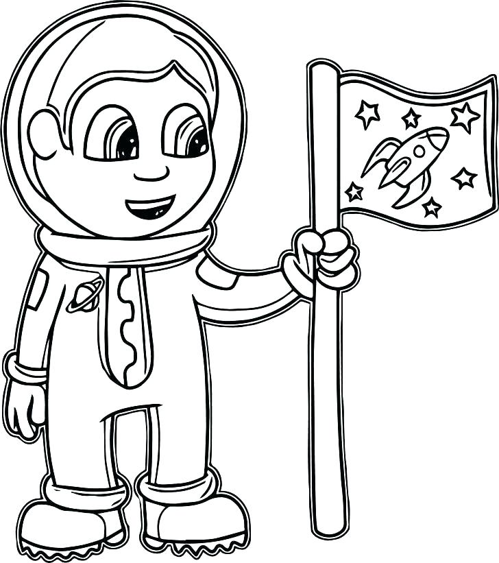 728x821 Astronaut Coloring Pages
