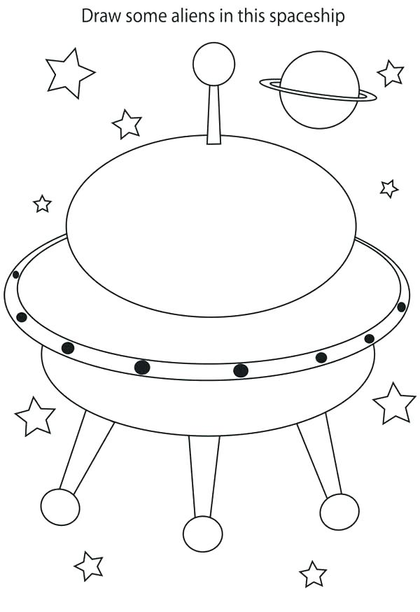 600x874 Spaceship Coloring Pages