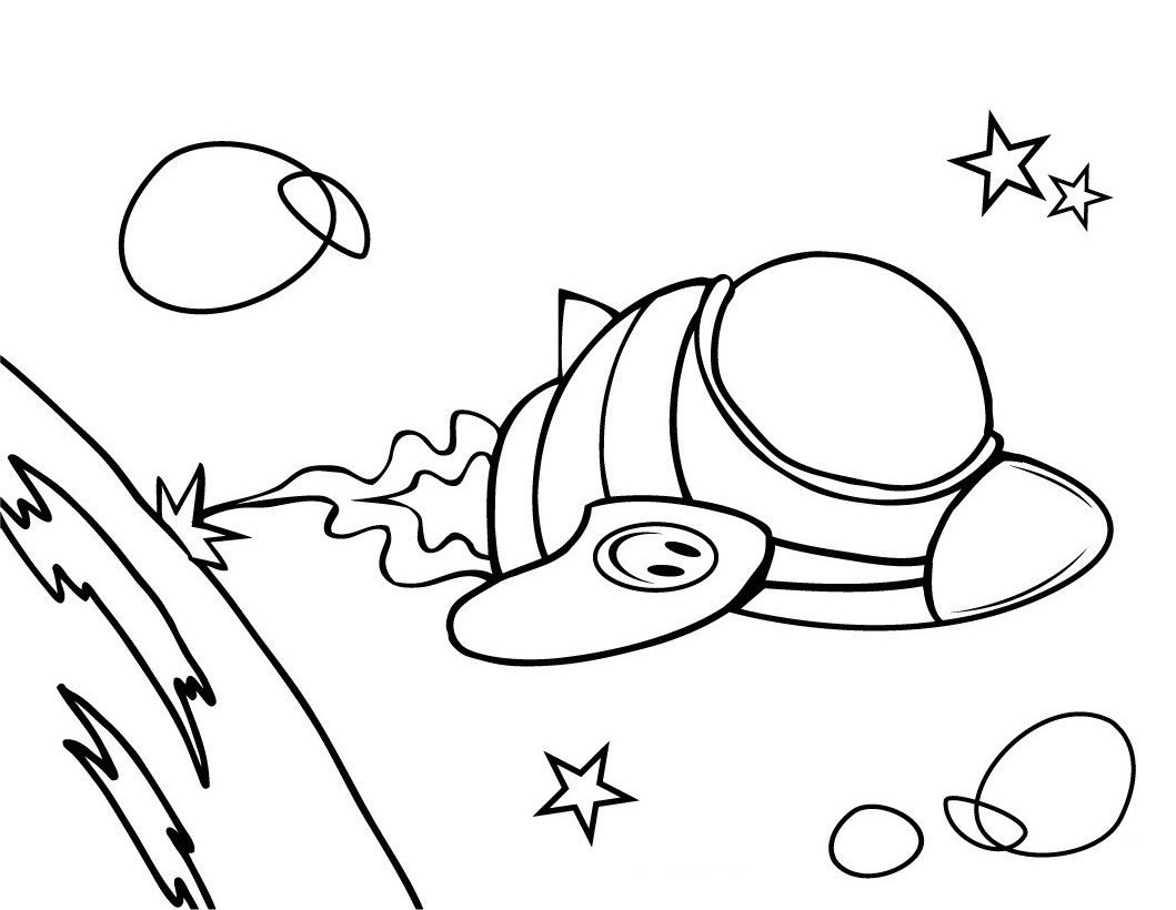 1059x820 Free Printable Spaceship Coloring Pages For Kids
