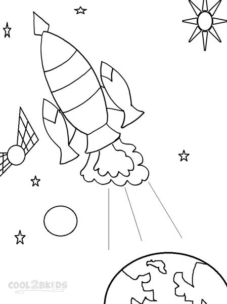449x600 Printable Spaceship Coloring Pages For Kids