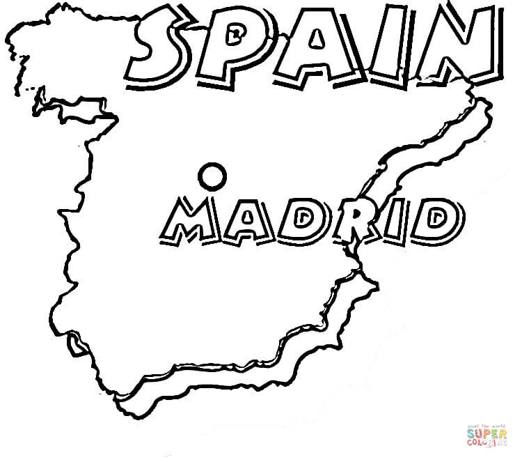 750x663 Map Of Spain Madrid Is The Capital Of Spain Super Coloring