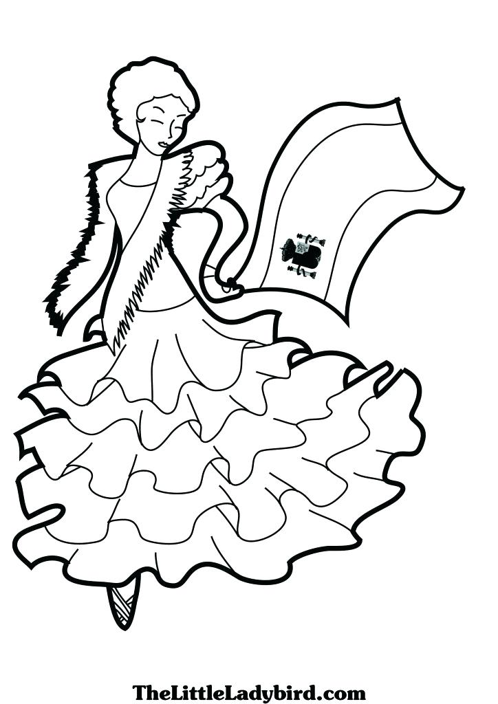 724x1024 Amazing Flag Of Spain Coloring Page Coloring For Kids Dancing Page