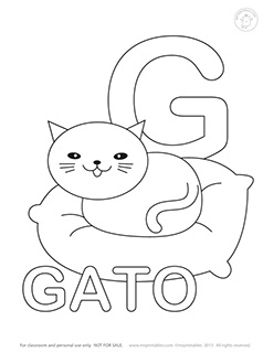 238x320 Spanish Alphabet Coloring Pages