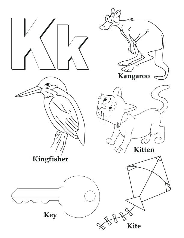 612x792 Spanish Alphabet Coloring Pages Letter K My A To Z Book Page Free