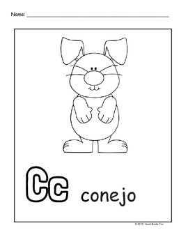 270x350 Spanish Alphabet Coloring Pages