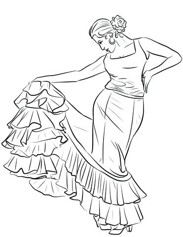 371x480 Coloring Pages Spanish Click To See Printable Version Of Dancer