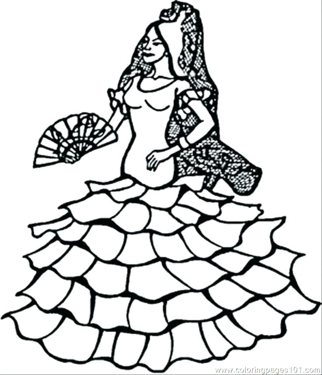 650x758 Coloring Pages Spanish Coloring Page Dancer Coloring Page Coloring