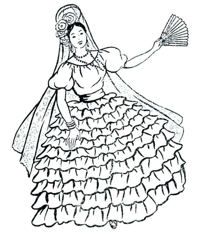 670x820 Spanish Coloring Pages
