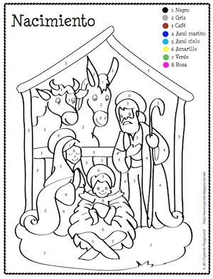 Spanish Colors Coloring Page