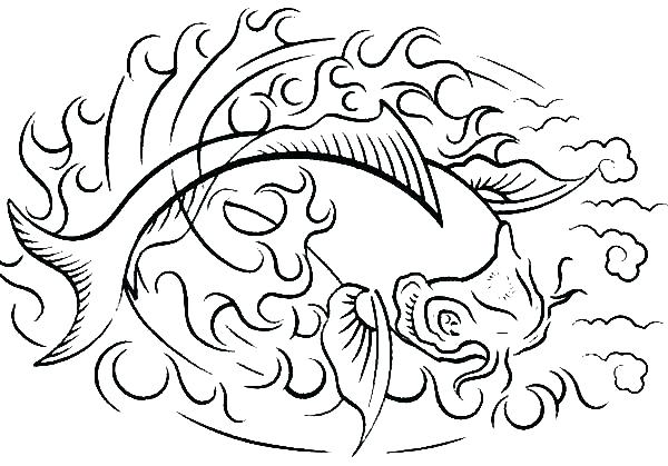600x419 Fire Coloring Pages Fire Coloring Pages Fish On Fire Coloring