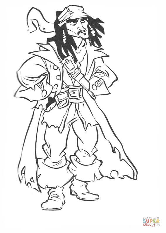567x794 Jack Sparrow Coloring Page