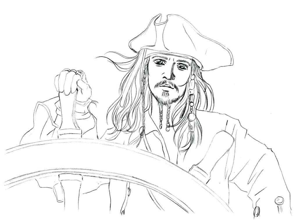 1056x757 Jack Sparrow Coloring Page From The Incredibles Pages Years Later