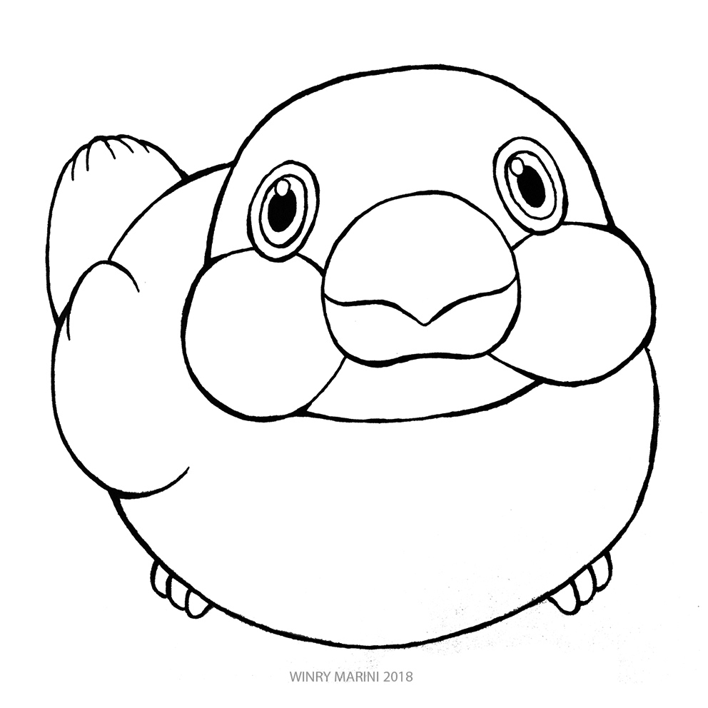 992x992 Art And Lore Java Sparrow Drawing Tutorial And Coloring Page