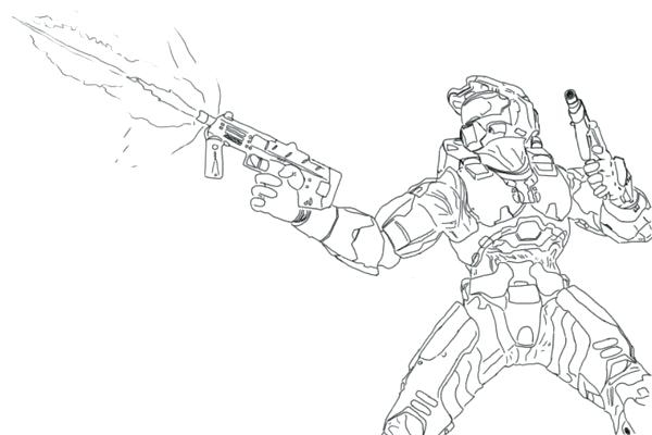 600x400 Halo Spartan Coloring Pages Spartan Coloring Pages Halo Coloring