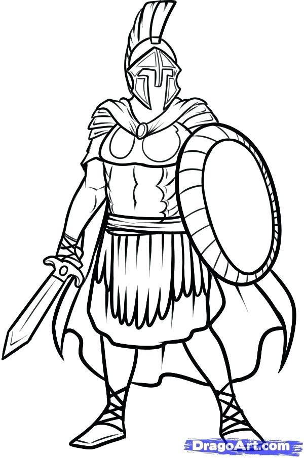 600x905 Spartan Helmet Coloring Pages Deepart