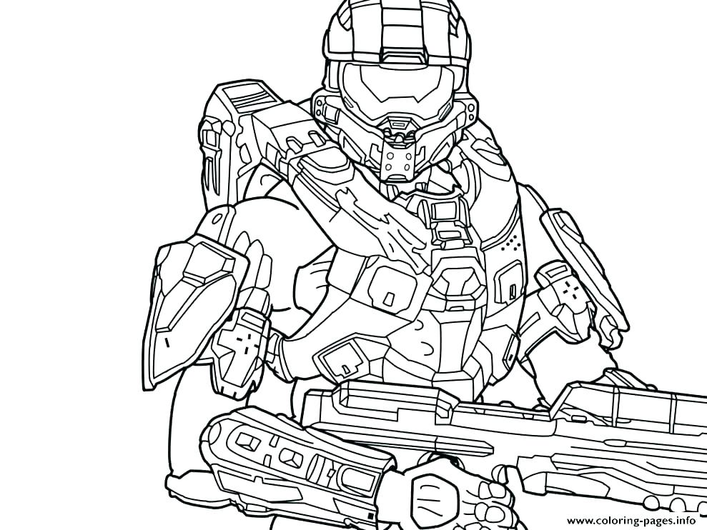989x742 Coloring Pages Online Printable Spartan Halo Download New Fee