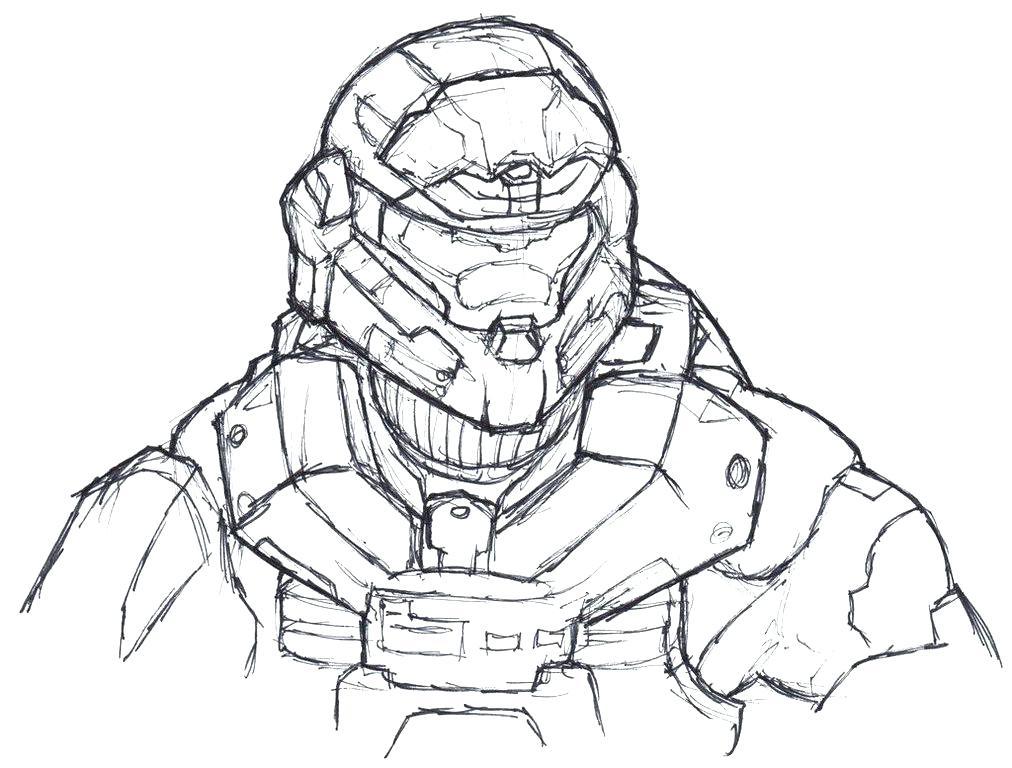 1012x768 Halo Spartan Coloring Pages Carter Helmet Halo Spartan Coloring