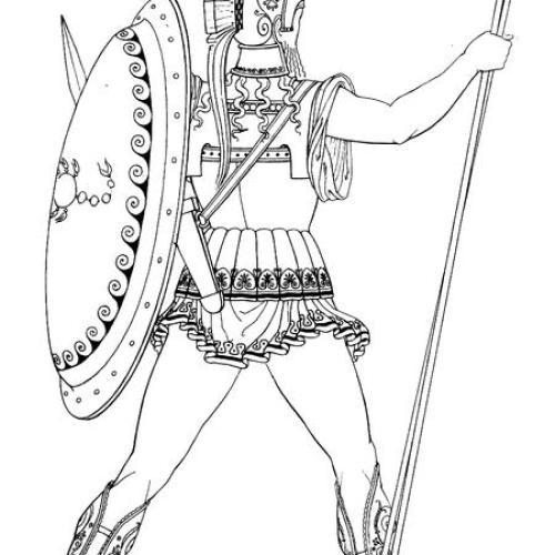Spartan Warrior Coloring Pages