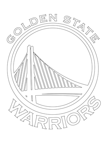 360x480 Golden State Warriors Logo Coloring Page Free Printable In Pages