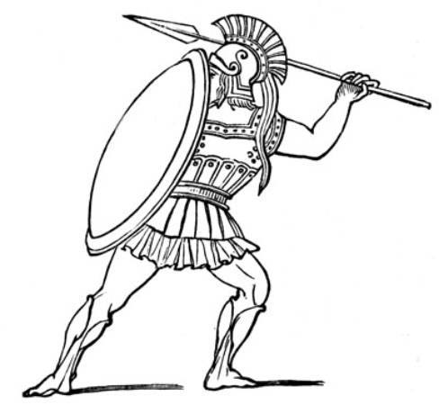 488x450 Greek Spartan Warrior Coloring Pages
