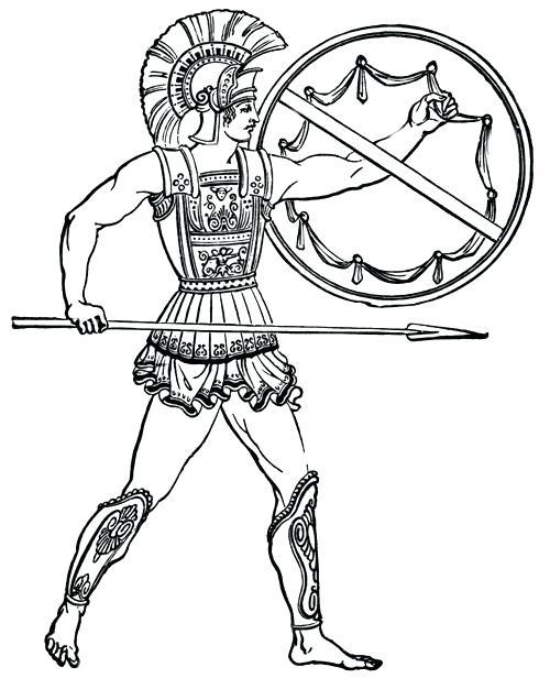 500x626 Spartan Coloring Pages Spartan Coloring Pages Spartan Coloring