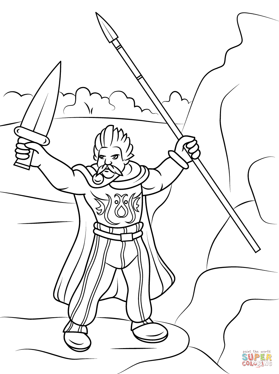 894x1199 Celtic Warrior Coloring Page Free Printable Pages Inside Warriors