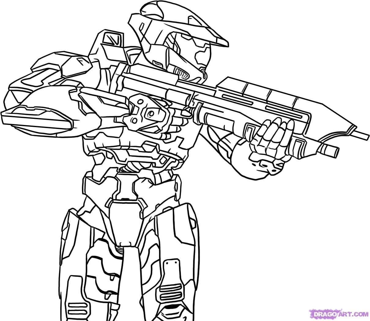 1210x1048 Coloring Pages Master Chief Futpal Com Halo Auromas Spartan