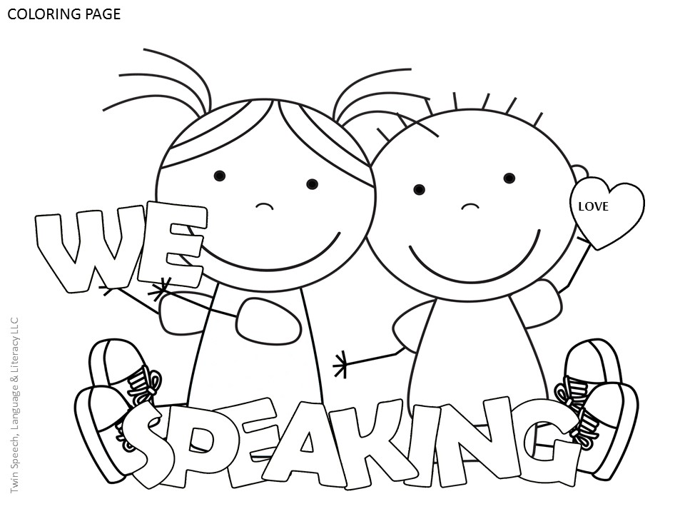 960x720 Free Speech Therapy Door Signs Coloring Pages