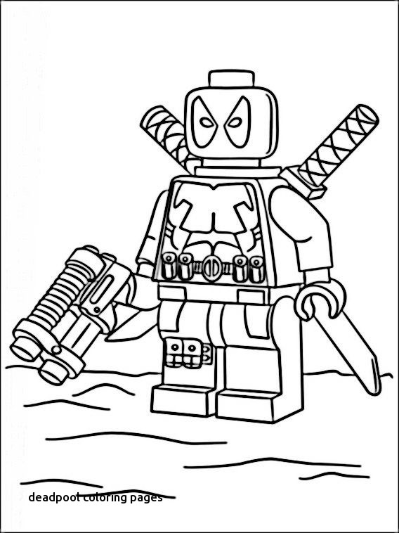568x758 Lego Marvel Heroes Coloring Pages Lian Speech For Deadpool
