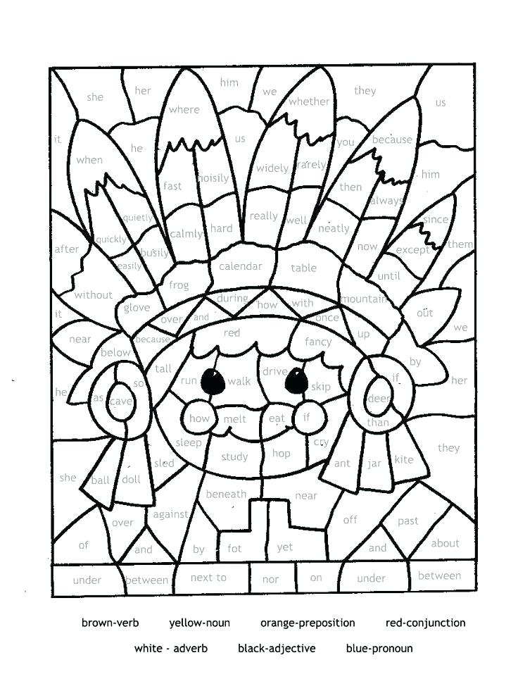 736x981 Mosaic Coloring Pages Parts Of Speech Coloring Sheet Educational