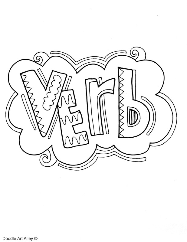 618x800 Parts Of Speech Coloring Pages