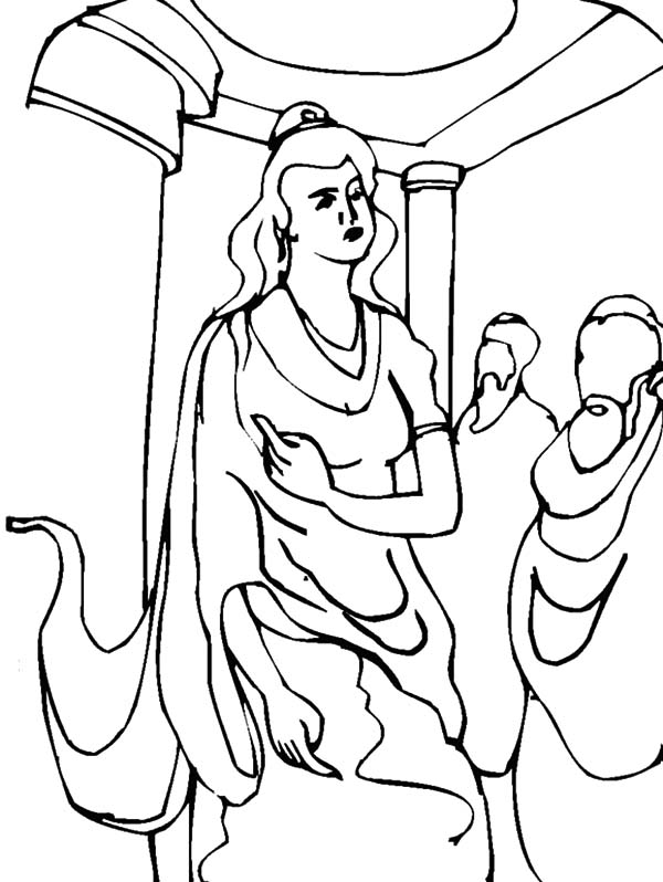 600x798 Queen Esther Speech Coloring Pages
