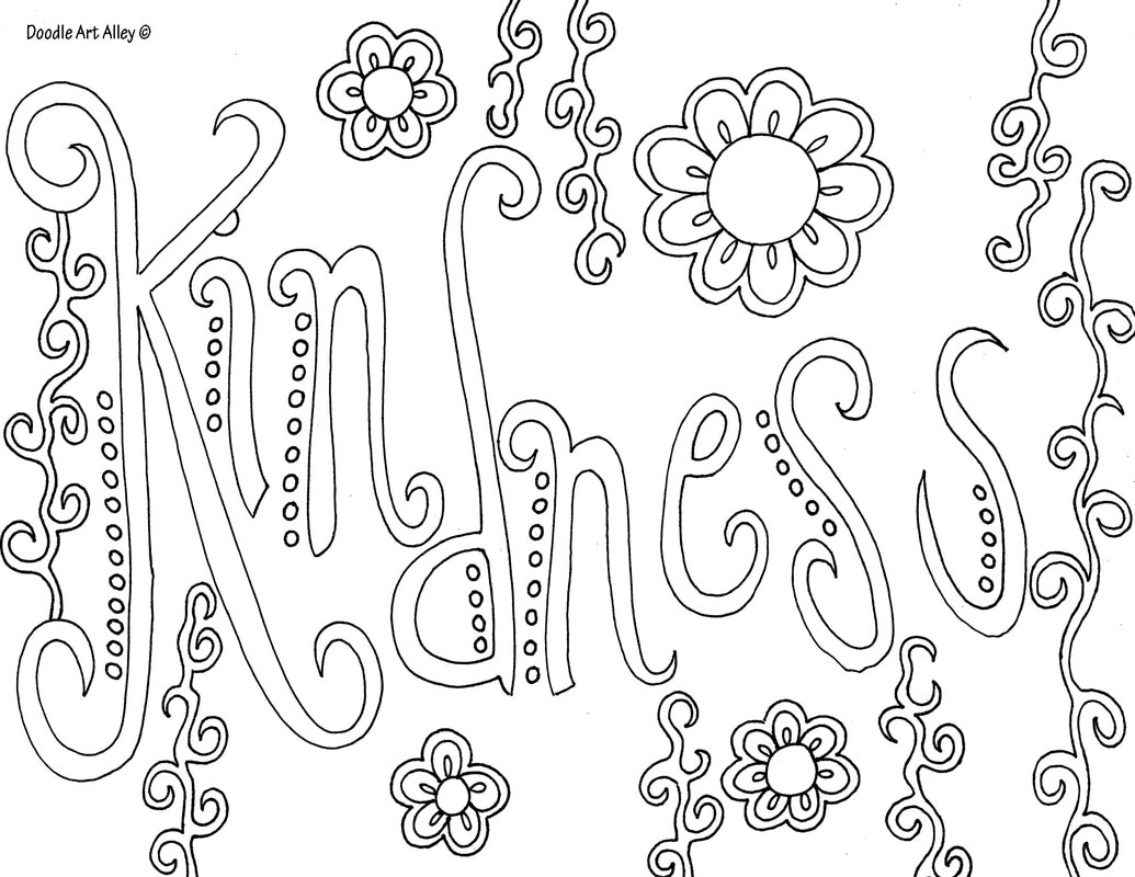 1035x800 Coloring Pages Words Word Doodle Art Alley