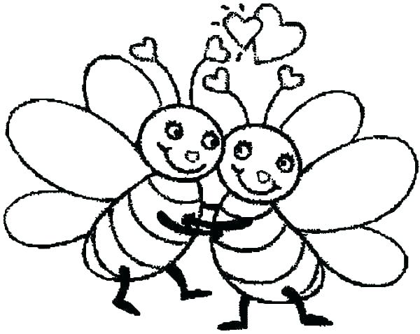 600x477 Bee Coloring Page Bee Coloring Sheet Bee Coloring Sheet Great Bees