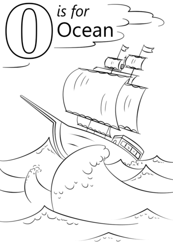 340x480 Letter O Is For Ocean Coloring Page From Letter O Category Select