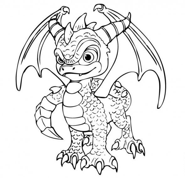 590x566 Skylanders Printable Colouring Pages