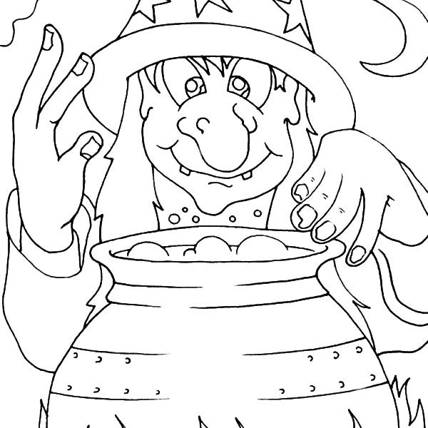 600x600 Witch Reading Spelling Book Coloring Pages Witch Reading Spelling