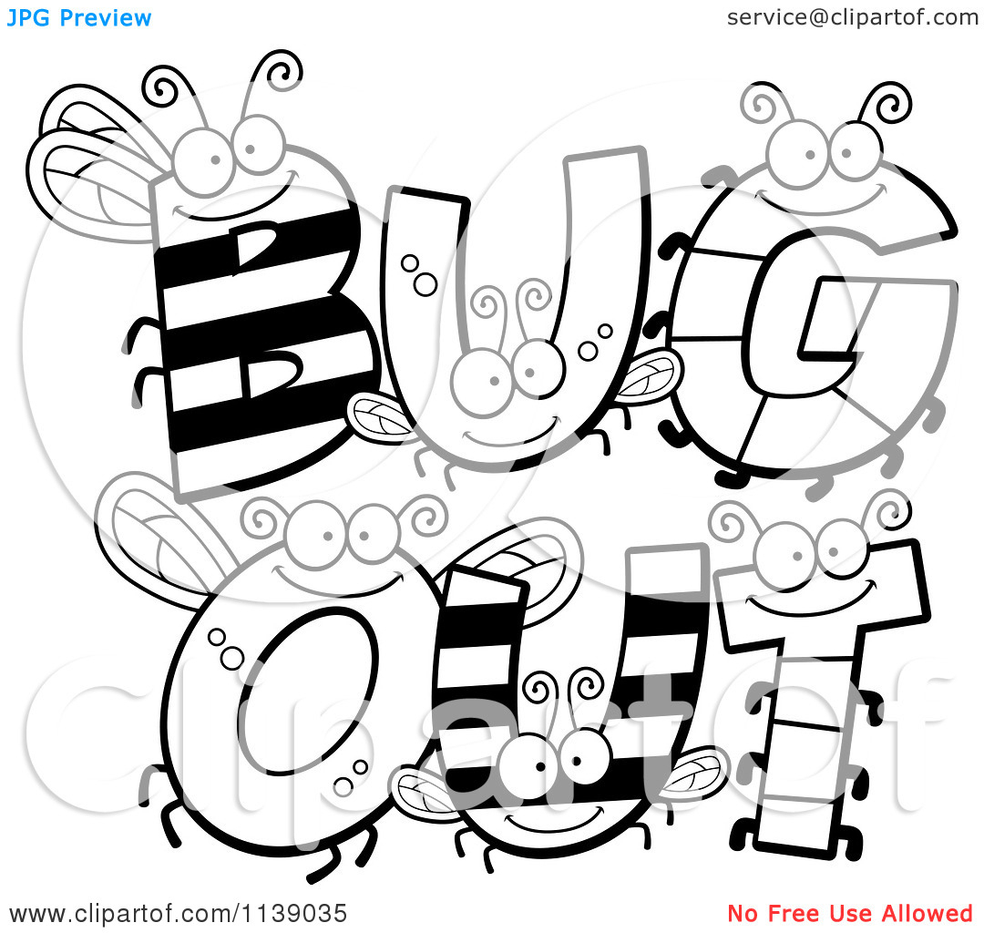 1080x1024 Bug Alphabet Coloring Pages Cartoon Clipart Of Black And White Bug