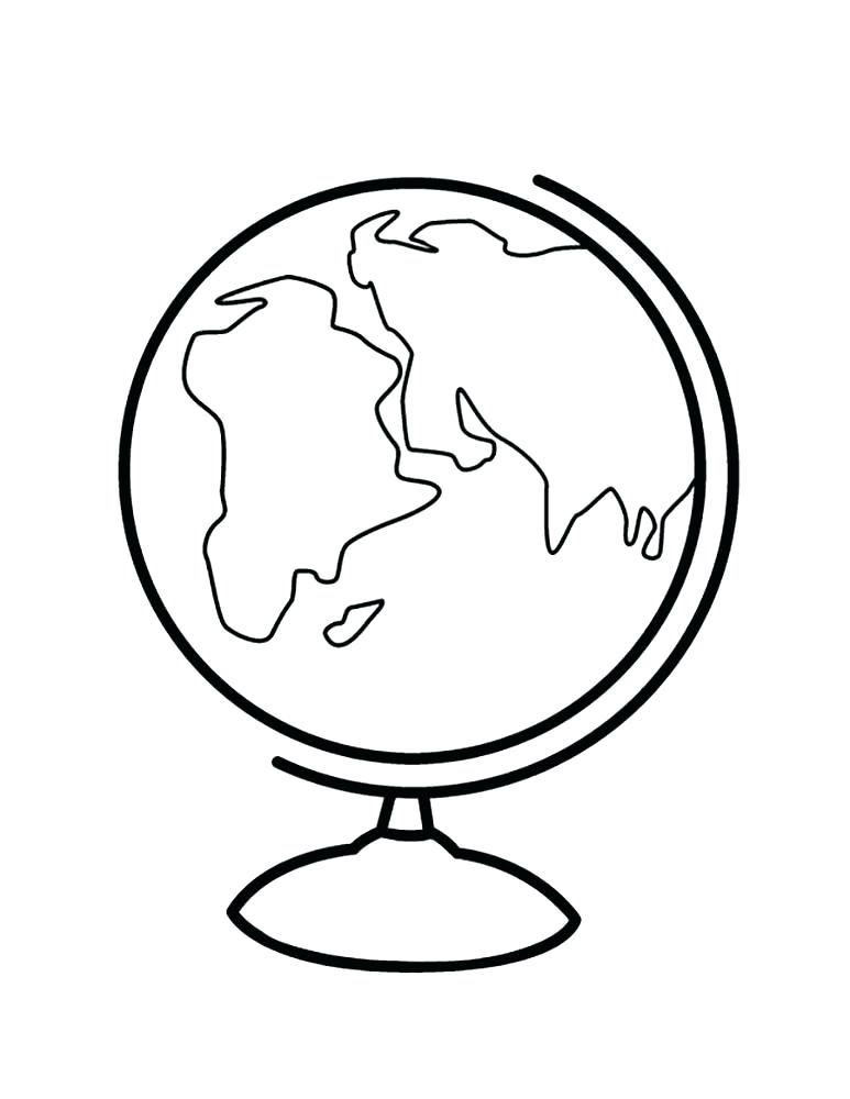 773x1000 Globe Coloring Pages