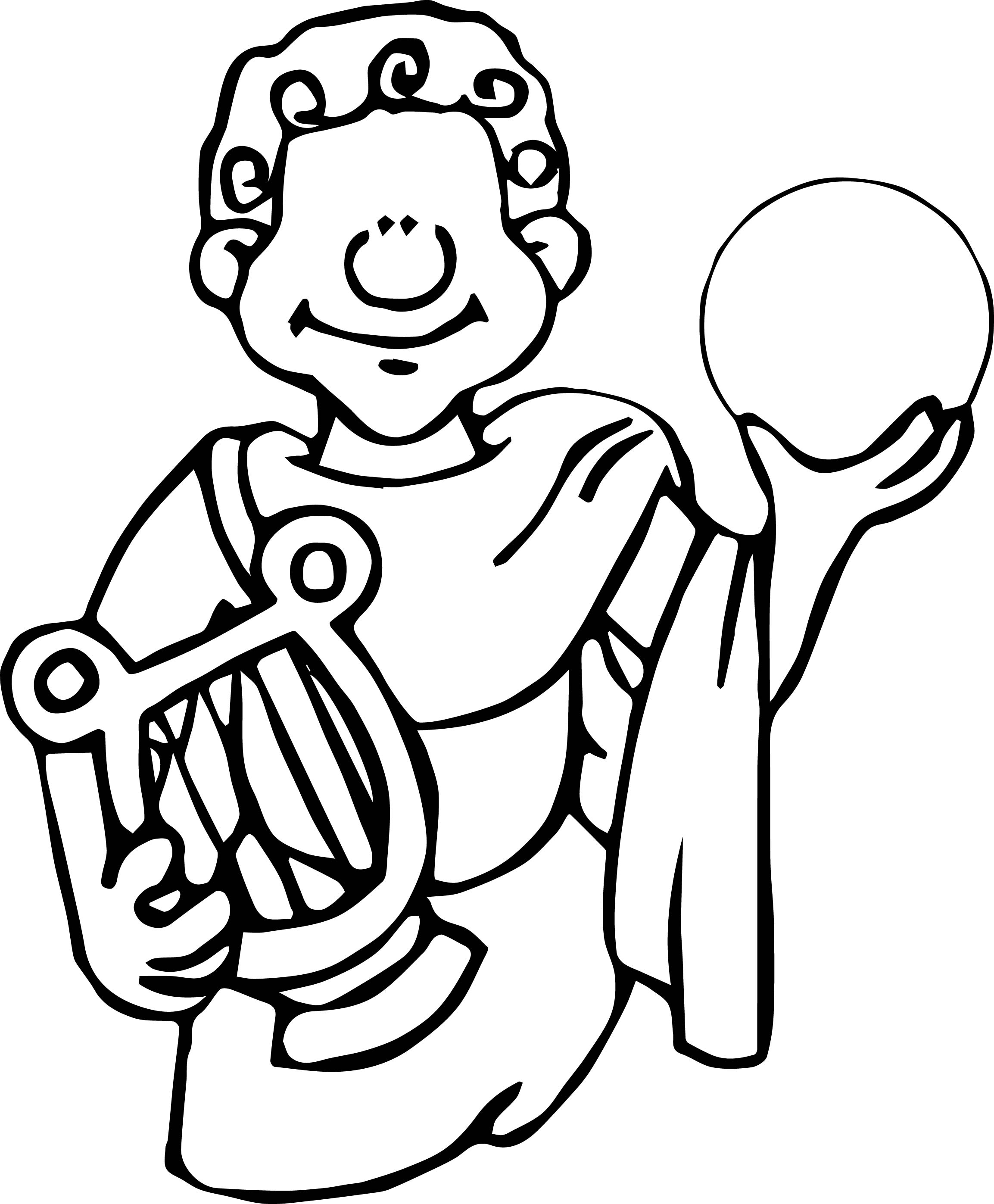 2307x2794 Ancient Egypt Man And Sphere Coloring Page Wecoloringpage