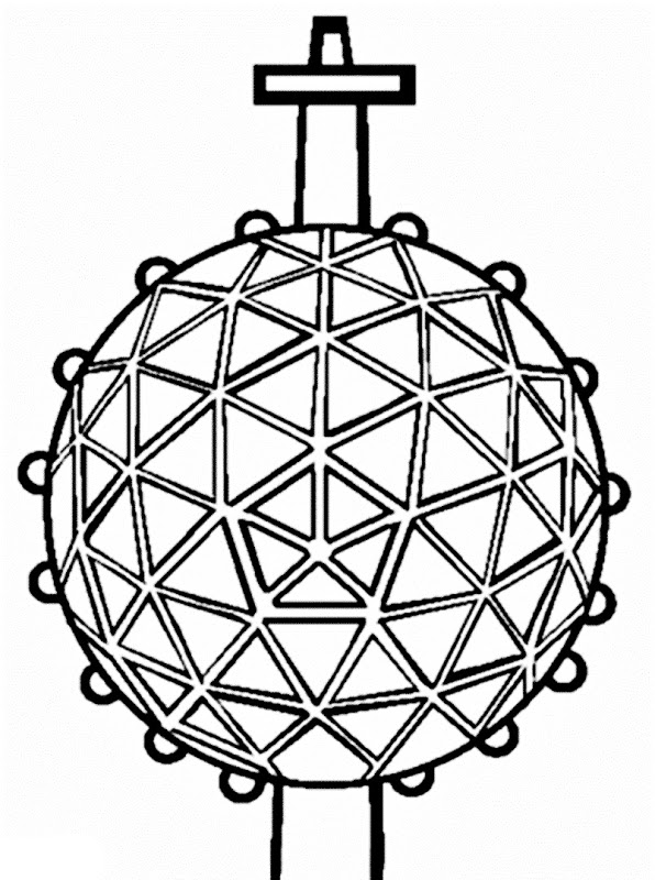 596x800 New Year's Coloring Pages Images New Year Ball Drop Coloring