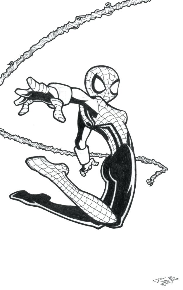 626x992 Spider Color Pages More Images Of Spider Girl Coloring Pages