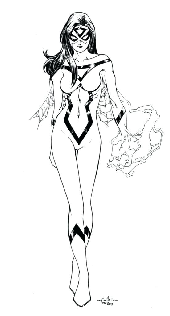 551x1024 Spider Girl Coloring Pages Download Spider Woman Coloring Pages