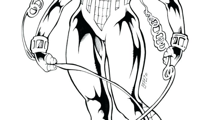 735x400 Spider Girl Coloring Pages Little Spider Woman Superhero Printable