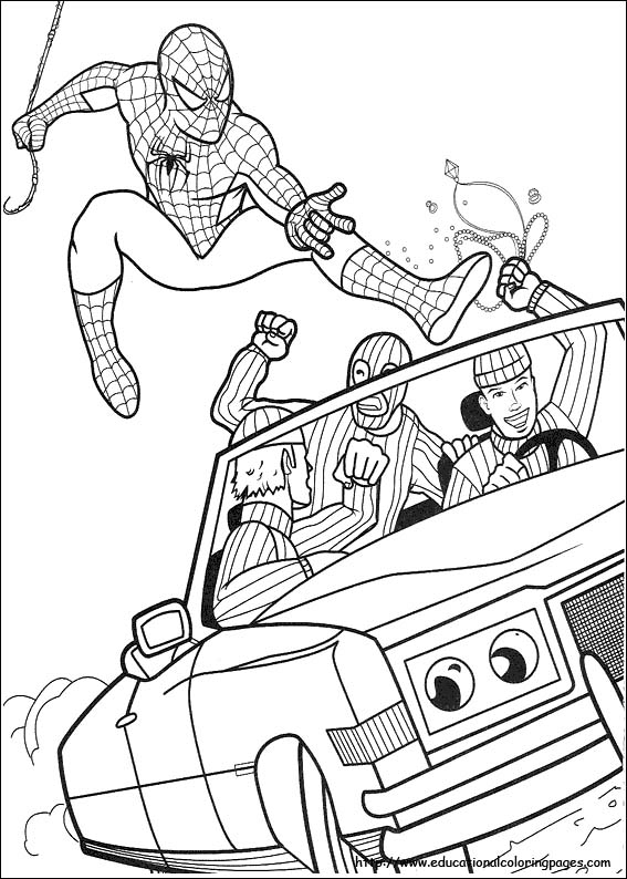 567x794 Kids Spiderman Coloring Pages