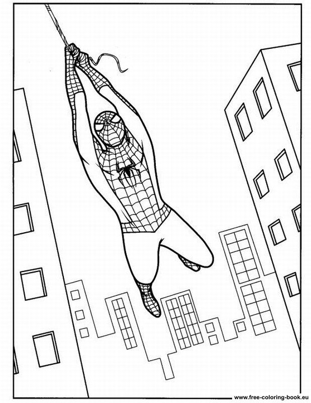619x800 Spider Man Coloring Pages