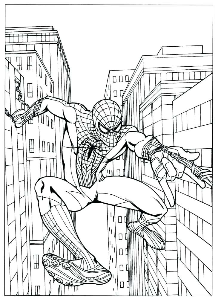 750x1000 Spider Man Coloring Pages Coloring Pages The Amazing Spider Man