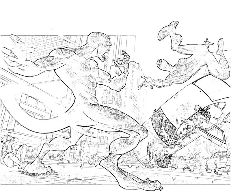 800x667 The Amazing Spider Man Coloring Pages